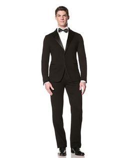 Giorgio Armani Mens Suit (Black). Every man should own a classic black tux.