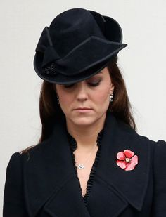 Catherine, Duchess of Cambridge attends the annual Remembrance Sunday Service at the Cenotaph on Whitehall on November 9, 2014 in London, United Kingdom. People across the UK gather to pay tribute to service personnel who have died in the two World Wars and subsequent conflicts, with this year taking on added significance as it is the centenary of the outbreak of World War One.