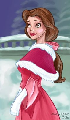 Belle (Beauty and the Beast) (c) 1991 Jeanne-Marie Leprince de Beaumont & Disney Disney Belle, Disney Princess Art, Disney Nerd, Arte Disney, Disney Fan Art, Disney Dream, Disney Girls, Disney Love, Disney Magic