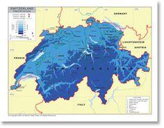 Switzerland Map World Thinking Day