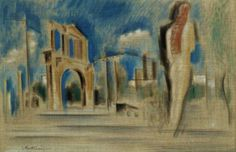 Constantinos Parthenis Greek, , The walk of the Caryatid Greek Art, Conceptual Art, Les Oeuvres, Printmaking, Oil On Canvas, Greece, Artists, Sculpture, Fine Art