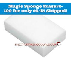 WOW!! Get 100 Magic Sponge Erasers for only $6.45 shipped! Great for cleaning tires, patio furniture, and all your other cleaning needs!  Click the link below to get all of the details ► http://www.thecouponingcouple.com/100-magic-sponge-erasers-for-only-7-09-shipped/  #Coupons #Couponing #CouponCommunity  Visit us at http://www.thecouponingcouple.com for more great posts!