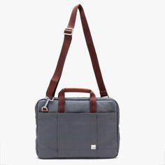 Lincoln Messenger Bag in Grey