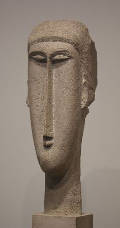 Amedeo Modigliani, Head of a Woman, 1910, National Gallery of Art, Washington…
