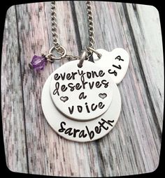 SLP Gift, Speech Therapist Gift, Speech Therapy Staff, Rehab Office Professional Jewelry Necklace, Language Therapy Gift by ThatKindaGirl on Etsy