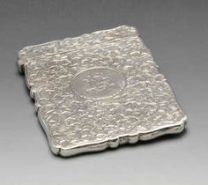 LOT:488 | A late Victorian silver card case.