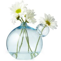 Gary Bodker Designs Mini Bubble Vase ($28) ❤ liked on Polyvore featuring home, home decor, vases, flowers, fillers, random, glass, miniature vase, miniature glass vases and mini vases