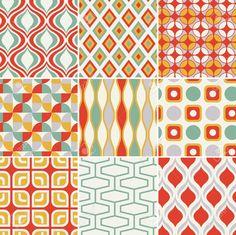 복고 원활한 추상적 인 기하학적 패턴 로열티 무료 사진, 그림, 이미지 그리고 스톡포토그래피. Image 19604733.