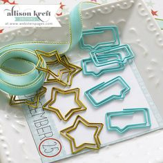 Websters Pages - Its Christmas Collection - Paperclips - Speech Bubbles and Stars at Scrapbook.com