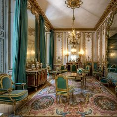 Appartements privés de Marie-Antoinette , le Grand cabinet de la reine . Versailles , France