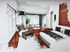 """664 Likes, 4 Comments - Interiors/Sketches (@tihomirov_sketch) on Instagram: """"#sketching #interiordesign #interiorsketcher #interior #draw #art #arch #architect #graphicdesign…"""""""