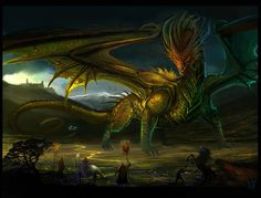 DeviantArt: More Like The Great Dragon by AlectorFencer Magical Creatures, Fantasy Creatures, Big Dragon, Legendary Dragons, Dragon Images, Legends And Myths, Fantasy Beasts, Beautiful Dragon, Dragon Artwork