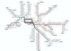 Future Singapore MRT map 2011, 2015, 2020, 2025