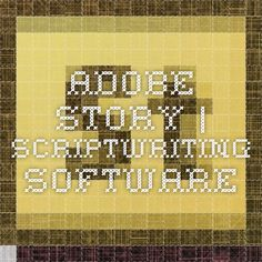 Adobe Story   Scriptwriting software