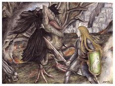 The Witch King before Eowyn by peet.deviantart.com on @deviantART