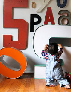 nice effect. vintage letters and numbers