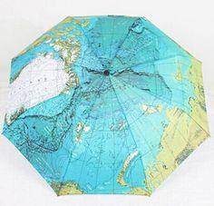 Personalizado 3 paraguas plegable asiático tejido textil mapa paraguas