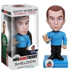 Bring home the whole gang from the Big Bang Theory in Star Trek costumes: Sheldon, Leonard, Howard, and Raj -- Everyone's favorite Nerds! #sheldon #bigbangtheory #bobblehead #startrek #figure #collectible $18.60 http://www.thinkfasttoys.com/Sheldon-~6-3-Bobble-Head-Figure/dp/B00CR3Y1JO