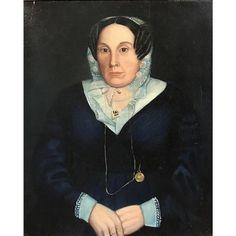 19th c American School Portrait of a New York Woman