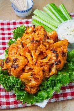 Buffalo Roasted Cauliflower – Healthy Tip For Vegetarian Weight Loss Dish Idea - Bored Fast Food