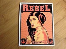 Rebel Princess Leia sticker decal Star Wars propaganda poster style empire luke