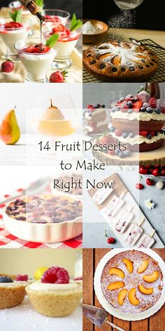 Fruit Desserts Roundup - A wide variety of fresh and yummy recipes for summer fruit desserts, such as cakes, tarts, jam, popsicles, and more, are featured in this recipe roundup. | justalittlebitofbacon.com