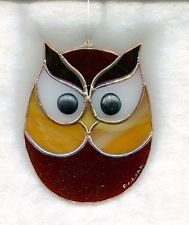 Stained Glass OWL Suncatcher (OWL30)