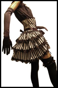 CARNIVALE QUEEN Gothic Burlesque Steampunk Bustle Victorian Pirate Queen theatrical Couture Costume Whitby - Lovechild Boudoir