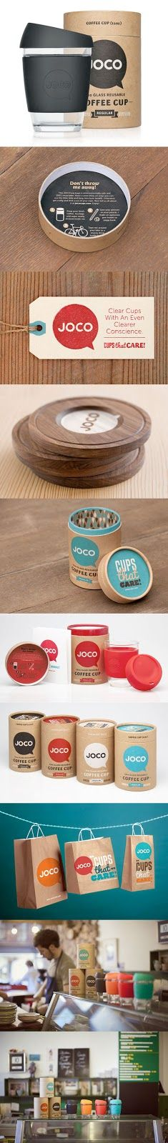 CUTE PACKAGING DESIGN  COFFEE BRANDING DESIGN  JOCO COFFEE CUP DESIGN BY JIMMY GLEESON