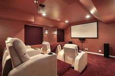 Top 70 Best Home Theater Seating Ideas - Movie Room Designs Home Cinema Room, Home Theater Setup, Best Home Theater, Home Theater Speakers, Home Theater Rooms, Home Theater Projectors, Home Theater Design, Home Theater Seating, Theater Seats