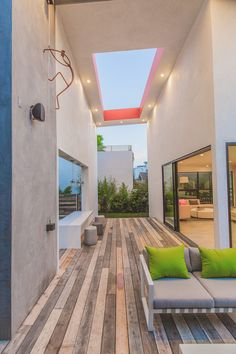 A Colorful Contemporary House in Los Angeles, California