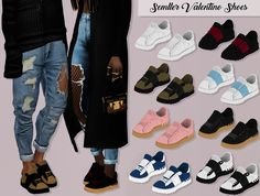 SEMLLER VALENTINO SHOES by Lumy-sims For female and male sims 70 Swatches Works with silders HQ Mod Compatible Custom Catalog Thumbnails Credits: to @semller