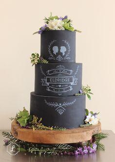 Made by Lucylu in Hawkes Bay, New Zealand. #chalkboard#cakes#weddings#modern