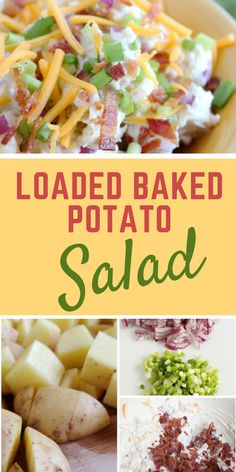 salad recipes salad recipes pasta salad recipes with italian dressing chicken salad recipes taco salad recipes salad recipes healthy salad recipes with strawberries salad recipes summer Cabbage Salad Recipes, Green Salad Recipes, Chicken Salad Recipes, Healthy Salad Recipes, Smoothie Recipes, Pasta Recipes, Loaded Baked Potato Salad, Potato Side Dishes, Macaroni Salad