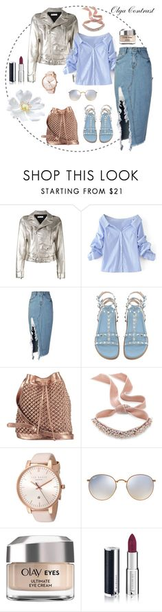 """""""14.08.2017"""" by olgacontrast on Polyvore featuring мода, RED Valentino, WithChic, storets, nooki design, Fallon, Ted Baker, Ray-Ban, Olay и Givenchy"""