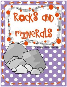 Information, activities, and lesson plans on rocks, minerals, and