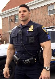 """cigarboypa: """"Damn he's sexy. I'll always take a man in uniform- police, military or security guard. Delicious choices like a smorgasbord! Cop Uniform, Men In Uniform, Sexy Military Men, Hot Cops, Muscular Men, Hairy Men, Scruffy Men, Good Looking Men, Gorgeous Men"""