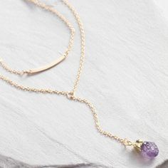 One of my favorite discoveries at WorldMarket.com: Amethyst and Gold Pendant Necklaces Set of 2