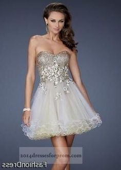 Nice gold and white short prom dresses 2017-2018 Check more at http://myclothestrend.com/dresses-review/gold-and-white-short-prom-dresses-2017-2018/