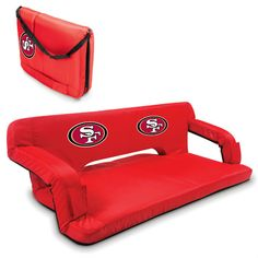 San Francisco 49ers Red Reflex Portable Couch at www.SportsFansPlus.com