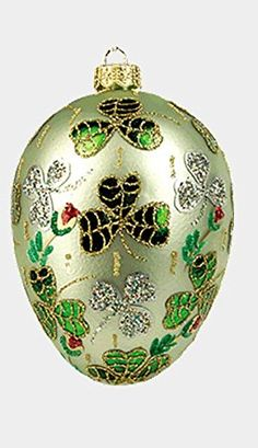 Green Shamrock Egg Faberge Inspired Polish Mouth Blown Gl... https://www.amazon.com/dp/B0185EGU0Q/ref=cm_sw_r_pi_dp_x_QMMgybR1SNPC4