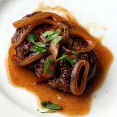 Salisbury Bistek: Filipino-style Salisbury Steak with Calamansi and Onion Gravy