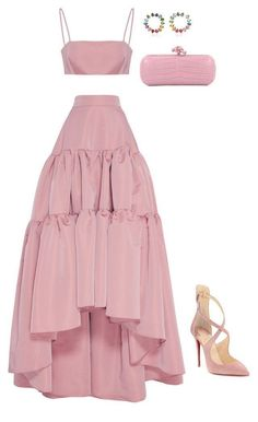 Apr 2020 - A fashion look from February 2018 by marcellamic featuring Christian Louboutin and Bottega Veneta Cute Casual Outfits, Pretty Outfits, Pretty Dresses, Stylish Outfits, Beautiful Dresses, Stylish Dresses, Kpop Fashion Outfits, Mode Outfits, Fashion Dresses