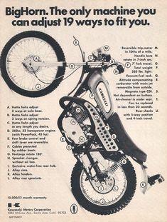 Trail Motorcycle, Motorcycle Posters, Scrambler Motorcycle, Kawasaki Dirt Bikes, Kawasaki Motorcycles, Vintage Bikes, Vintage Motorcycles, Sport Motorcycles, Classic Motors