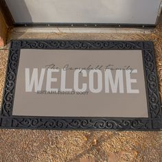 Make All Your Guests Feel Welcome With Our Family Welcome Doormat.