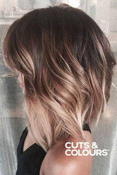 Balayage in Short Hair - Hair Styles Haircut And Color, Hair Color And Cut, Color For Short Hair, Hair Lengths, Hair Goals, Hair Inspiration, Hair Inspo, Cool Hairstyles, Hairstyle Ideas