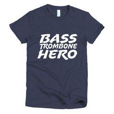 Bass Trombone Hero, Short sleeve women's t-shirt