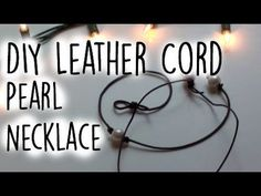 Single Pearl Leather CHOKER - Knotted / Floating Pearl on Cord - Step by Step DIY Tutorial # 998 - YouTube
