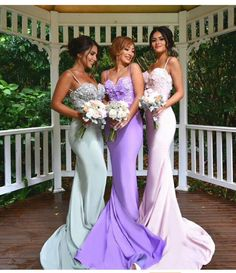 """Stunning bridesmaid gowns @dollhouse_xoxo 