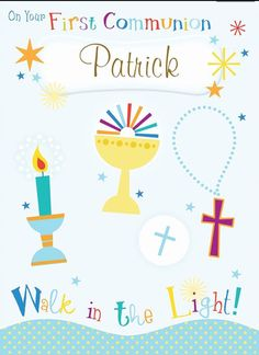 Walk In The Light, Personalized Greeting Cards, First Holy Communion, Holi, Holi Celebration, First Communion